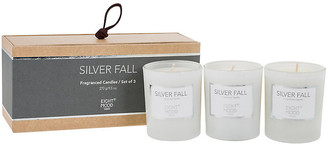 One Kings Lane Set of 3 Pure Candles - Silver Fall - dark gray/white