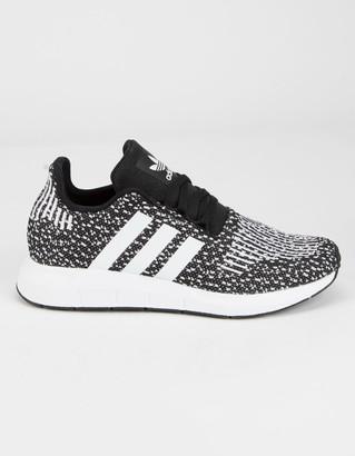 adidas Swift Run Boys Black & White Shoes