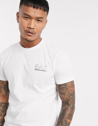 Armani EA7 Logo Series back print logo t-shirt in white