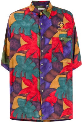 Pierre Cardin Pre Owned 1990s Floral-Print Short-Sleeved Shirt