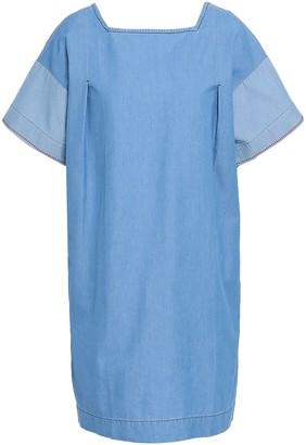 Parker Chinti & Cotton-chambray Mini Dress