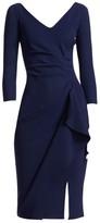 Chiara Boni Kloty Side Ruffle Dress