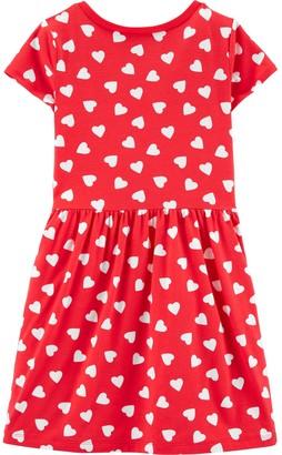 Carter's Girls 4-14 Heart Tie-Front Jersey Dress