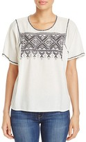 Lilla P Embroidered Cotton Top