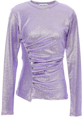 Paco Rabanne Ruched Stretch-lame Top