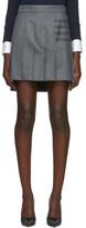 Thom Browne Grey Pleated 4-Bar Miniskirt