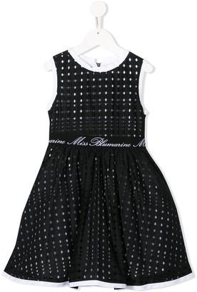 Miss Blumarine Perforated Flared Dress