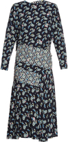 Preen by Thornton Bregazzi Jana Carnation-print long-sleeved dress