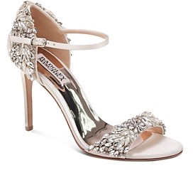 Badgley Mischka Tampa Embellished d'Orsay Ankle Strap Sandals