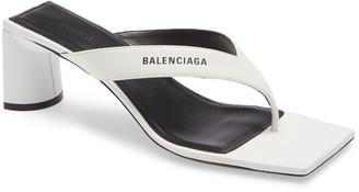 Balenciaga Square Toe Thong Sandal
