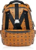 Mcm Cognac Visetos Jemison Backpack W/detachable Belt Bag