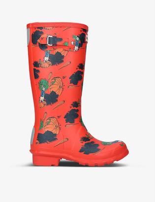 Hunter Peter Rabbit-print synthetic wellington boots 7-8 years