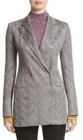 Missoni Women's Metallic Knit Double Breasted Jacket