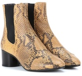 Isabel Marant Danae Printed Leather Ankle Boots
