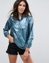 New Look Metallic Pull Over Anorak