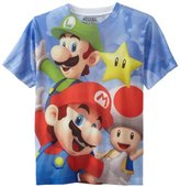 Nintendo Boys 8-20 Mario Group Short Sleeve Tee