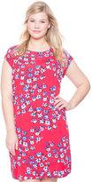 ELOQUII Plus Size Printed Tee Dress