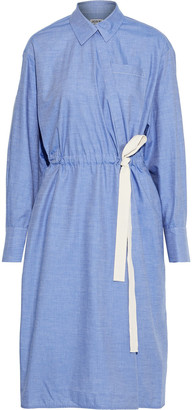 Jason Wu Cotton-chambray Wrap Dress