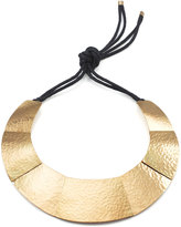 Josie Natori Geometric Brass Necklace