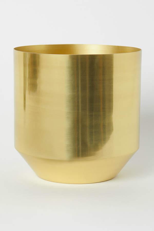 H&M Large Metal Plant Pot
