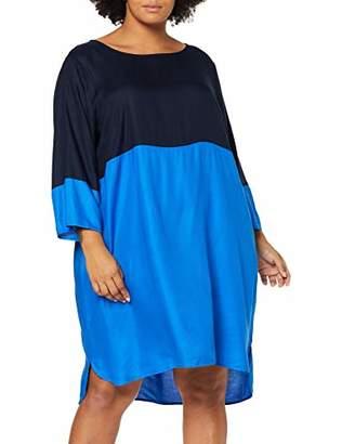 Junarose Women's Jrazkia 3/4 Sleeve Above Knee Dress - K Nebulas Blue Detail: Navy Blazer, (Size: 42)