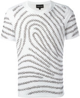 Emporio Armani fingerprint T-shirt - men - Cotton - S