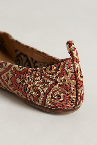 Anthropologie Bette Brocade Loafers