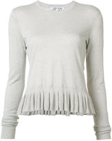 Elizabeth and James ruffled hem jumper - women - Cotton/Viscose/Cashmere - XS