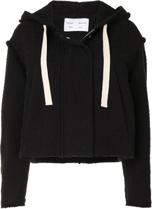 Proenza Schouler White Label Cropped Hooded Tweed Jacket