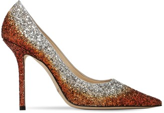 Jimmy Choo 100mm Love Glittered Pumps