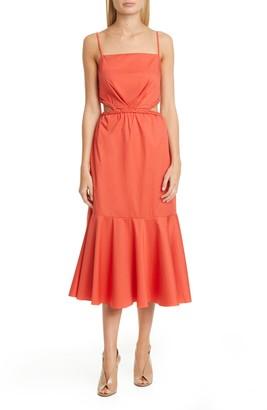 Johanna Ortiz Side Cutout Midi Dress