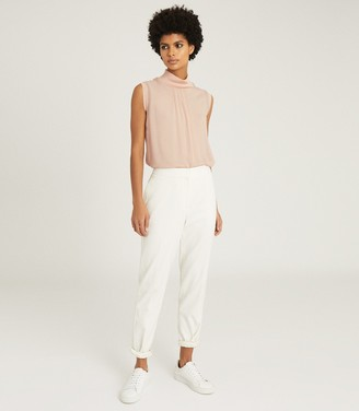 Reiss GILDA SLEEVELESS ROLLNECK TOP Blush