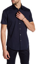 Theory Sylvain Wealth Short Sleeve Trim Fit Shirt