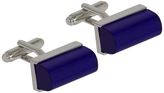 Oxford Cufflinks Lapis/Slvr/Blue X