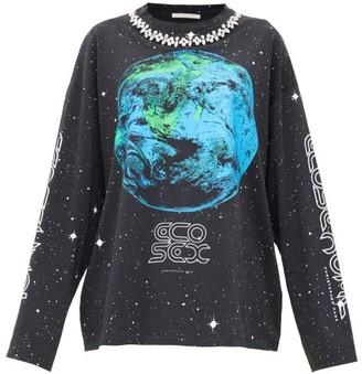 Christopher Kane Ecosexual Crystal-embellished Sweatshirt - Black