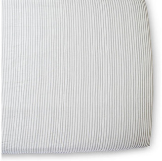 Pehr Stripes Away Crib Sheet - Pebble pebble/white