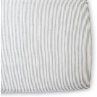 Pehr Stripes Away Crib Sheet - Pebble