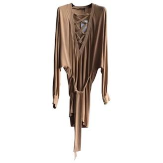 Balmain Beige Cotton - elasthane Dress for Women