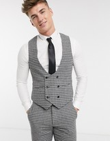 Gianni Feraud Slim Fit Wool Blend Small Check Suit Vest
