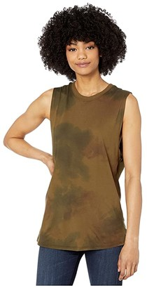 AG Jeans Zoey Tank (Watercolor Camo Dried Grass) Women's Clothing