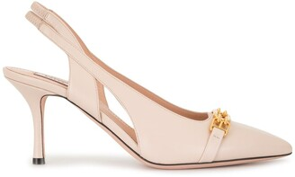 Bally Chain-Link Buckle Pumps
