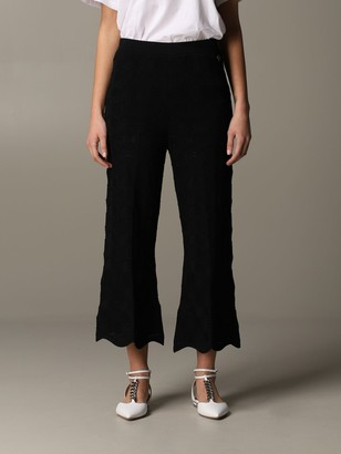Twin-Set Flair Pants In Lace