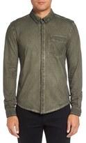 Michael Stars Men's Slim Fit Garment Washed Sport Shirt