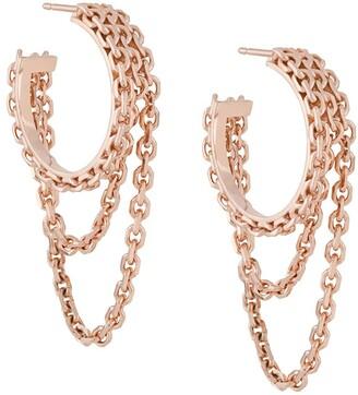Wouters & Hendrix Reves de Reves chain hoop earrings