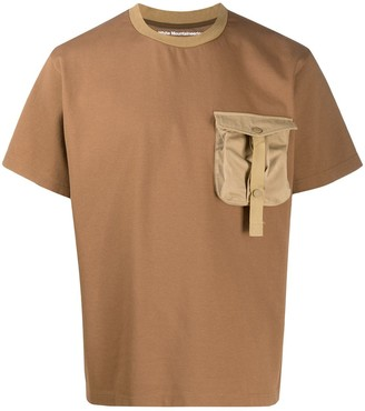 White Mountaineering chest pocket crew neck T-shirt