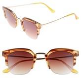 BP Women's 47Mm Retro Sunglasses - Brown/ Tort/ Yellow