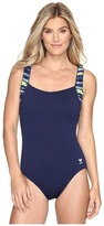 TYR Bellvue Stripe Square Neck Controlfit Women's Swimsuits One Piece