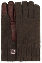 UGG Men's Knit Glove With Smart Leather Palm