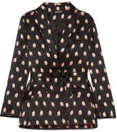 Markus Lupfer Sydney Printed Silk-satin Jacket - Black