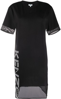 Kenzo mesh hem logo T-shirt dress